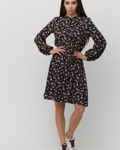 Приталенное платье с длинными рукавами на пуговицах с воротником Cardo