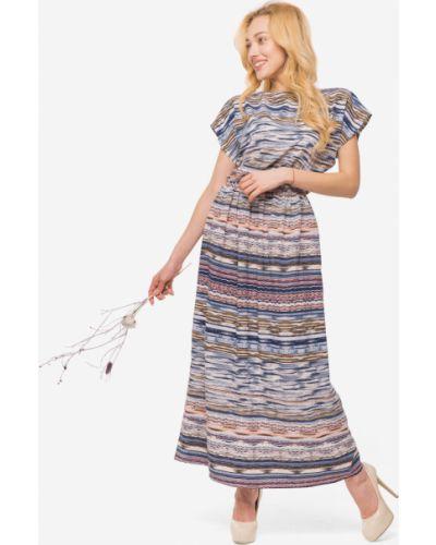 Платье макси в пол - розовое Modniy Oazis