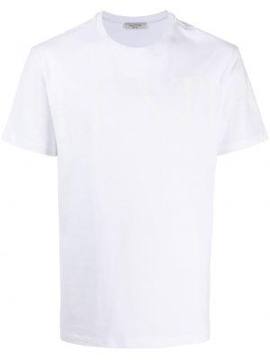 Хлопковая белая футболка с короткими рукавами Valentino