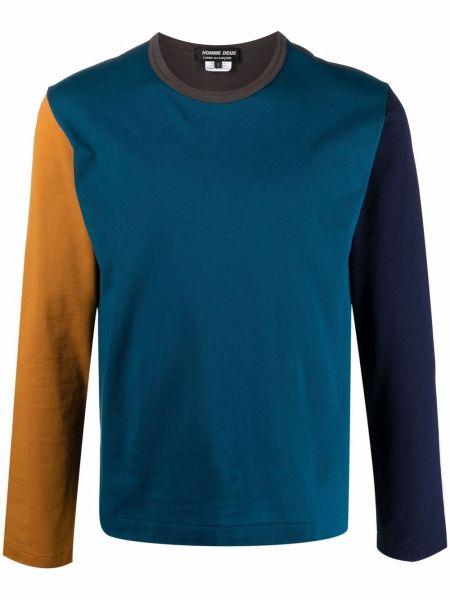 Niebieski top z długimi rękawami bawełniany Comme Des Garcons Homme Deux