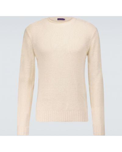 Шелковый белый свитер с манжетами Ralph Lauren Purple Label