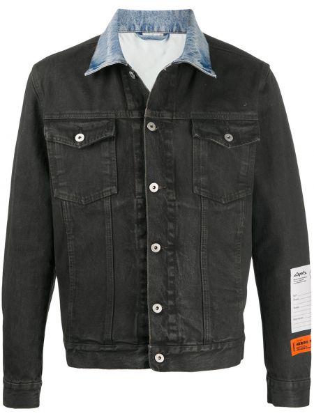 С рукавами синяя джинсовая куртка с воротником Heron Preston
