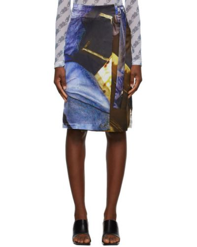 Satyna srebro spódnica z klamrą z paskiem Serapis