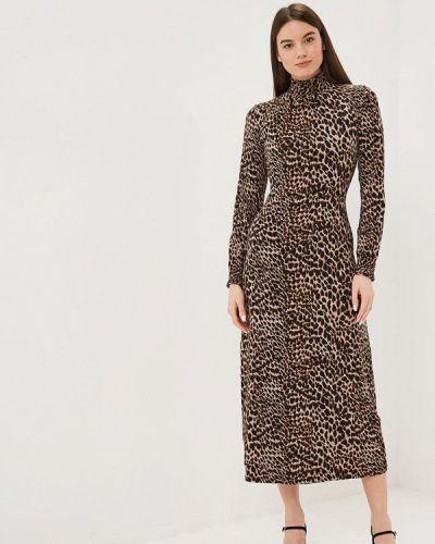 Платье - коричневое Warehouse