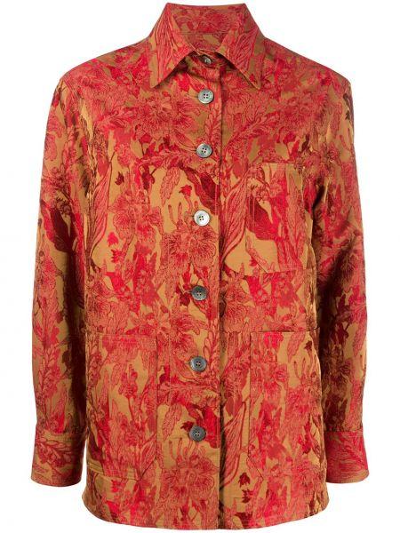 Рубашка с длинным рукавом с вышивкой классическая Alberto Biani