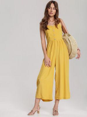 Kombinezon materiałowy - żółty Renee