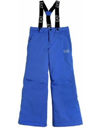 Горнолыжные брюки с принтом на молнии Ea7 Emporio Armani