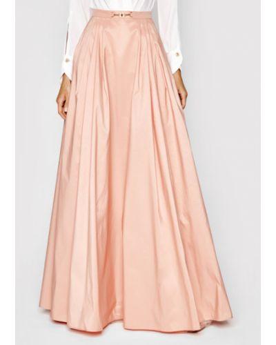 Różowa spódnica maxi Elisabetta Franchi