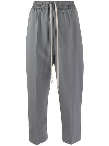 Укороченные брюки свободные с карманами Rick Owens