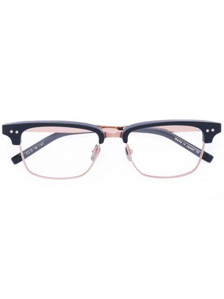 Złote czarne okulary Dita Eyewear