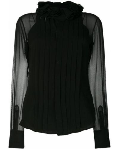 Блузка плиссированная шелковая Ralph Lauren