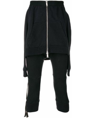 Спортивные брюки черные из вискозы Unravel Project