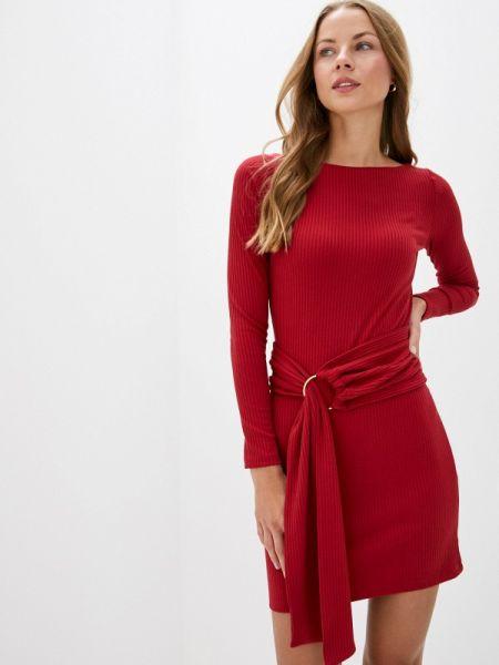 Платье вязаное красный Trendyangel