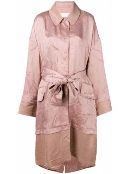 Розовое пальто с воротником из вискозы с декоративной отделкой Esteban Cortazar