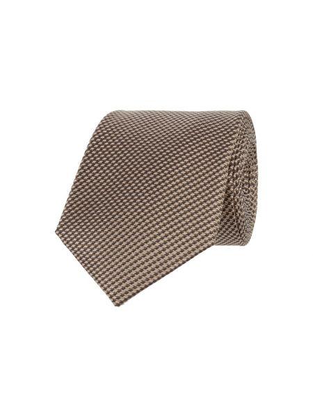 Klasyczny brązowy krawat z jedwabiu Monti