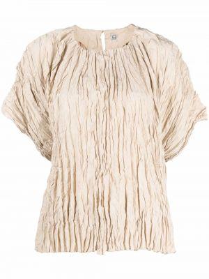 Beżowa bluzka z jedwabiu Toteme