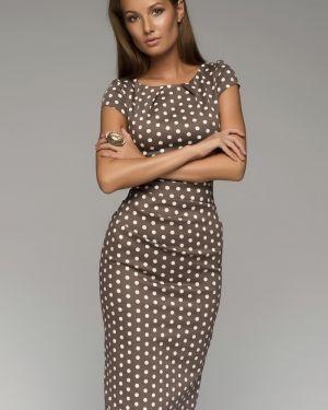 Летнее платье миди в горошек 1001 Dress