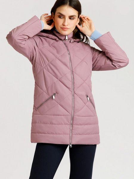 Расклешенная теплая свободная розовая утепленная куртка Finn Flare