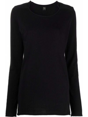 Czarna koszulka bawełniana Ys