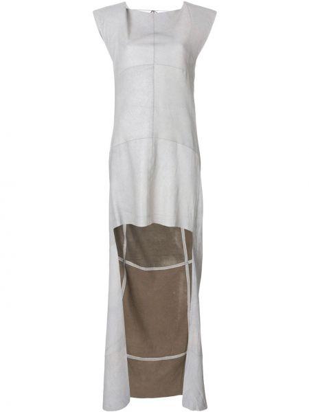 Приталенное кожаное платье с открытой спиной без рукавов Olsthoorn Vanderwilt