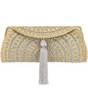 Beżowa torba na ramię srebrna oversize Florabella