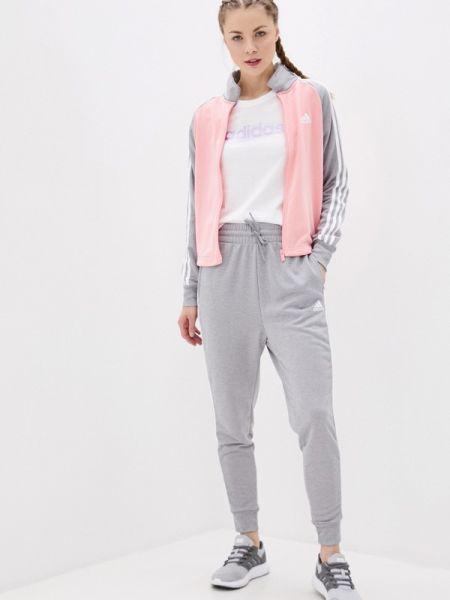 Костюм розовый серый Adidas
