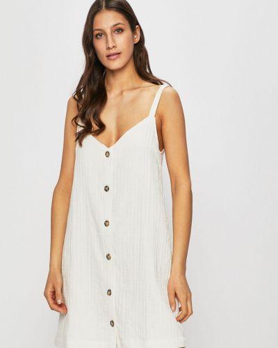 Платье с V-образным вырезом - белое Review