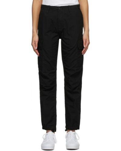 Bawełna spodni czarny spodnie z paskiem Carhartt Work In Progress