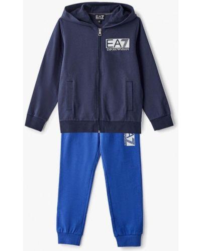 Спортивный костюм синий Ea7