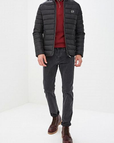 Черная утепленная куртка с воротником Winterra