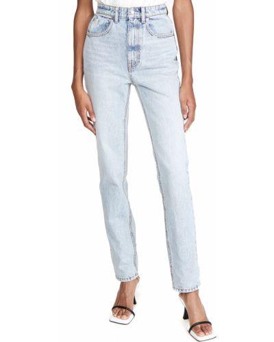 С завышенной талией прямые джинсы с карманами Denim X Alexander Wang