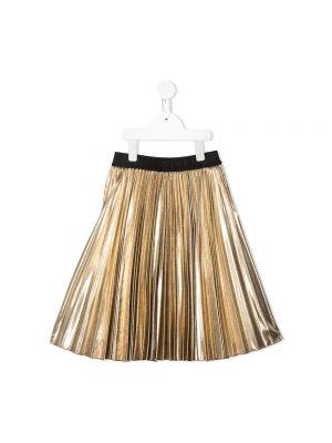 Złota spódnica plisowana - brązowa Givenchy