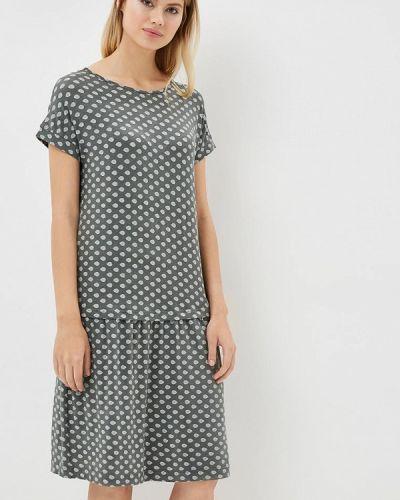 Платье серое вязаное Griol