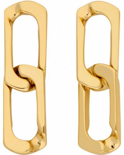 Серьги-гвоздики золотые Numbering