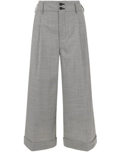 Укороченные брюки с завышенной талией в клетку Comme Des Garcons