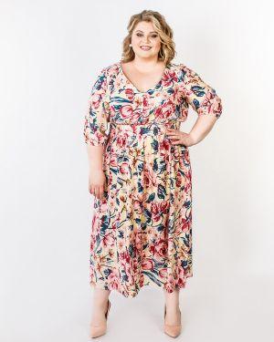 Летнее платье миди с цветочным принтом Jetty-plus