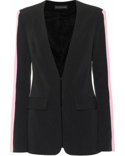 Пиджак черный из вискозы David Koma