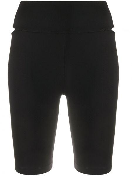 С завышенной талией черные шорты эластичные No Ka 'oi