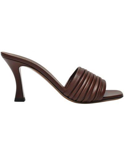 Brązowe sandały skórzane Neous