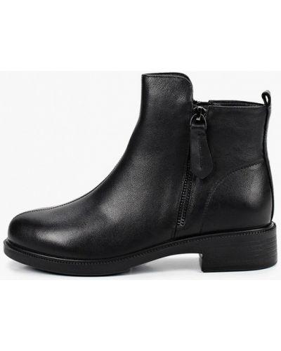 Черные кожаные ботинки Kari