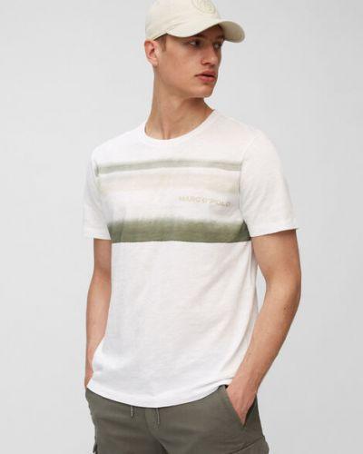 T-shirt bawełniany w paski Marc O Polo