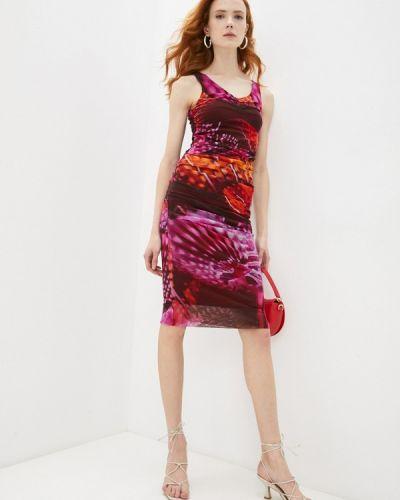 Разноцветное платье Fuzzi