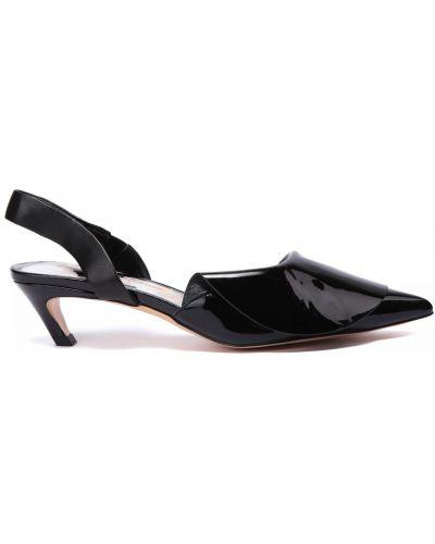 Черные кожаные туфли Doria Maria