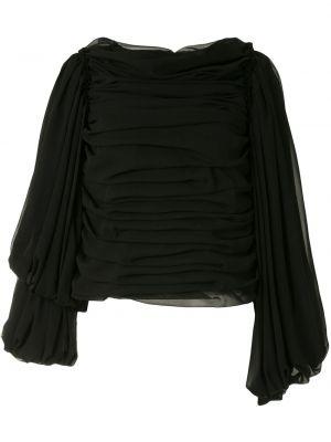 Z rękawami czarny bluzka z falbankami Comme Des Garcons
