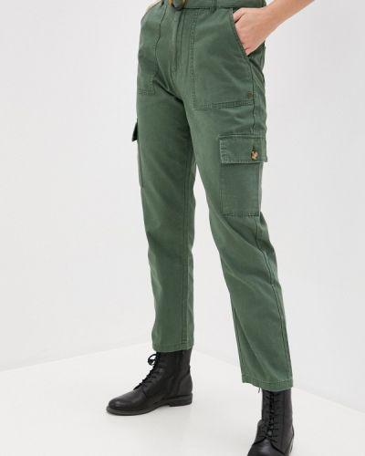 Зеленые брюки карго Roxy