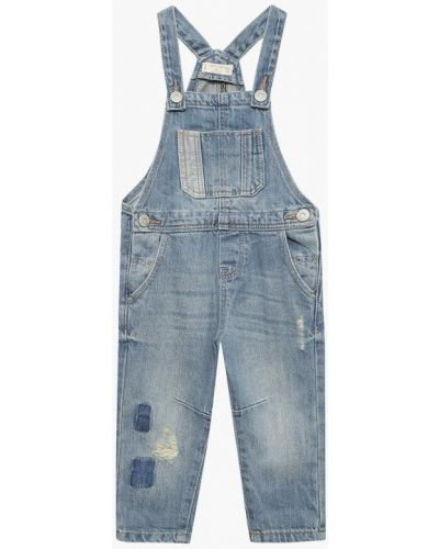 Голубой комбинезон джинсовый Mango Kids