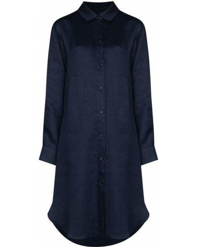 Синее платье классическое Asceno