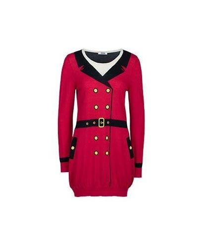 Шерстяное платье - красное Moschino Cheapandchic