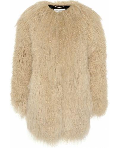 Длинная куртка плюшевая итальянский Saint Laurent