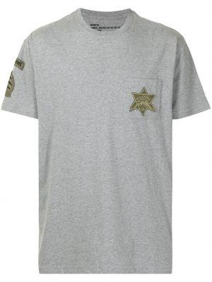 Серая футболка с короткими рукавами Maharishi